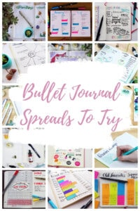 Bullet Journal Spreads Collage Title Pin 1