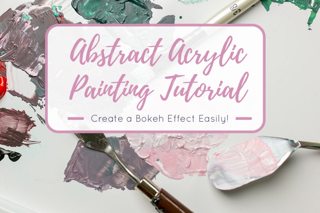 Abstract Acrylic Painting Tutorial Cover
