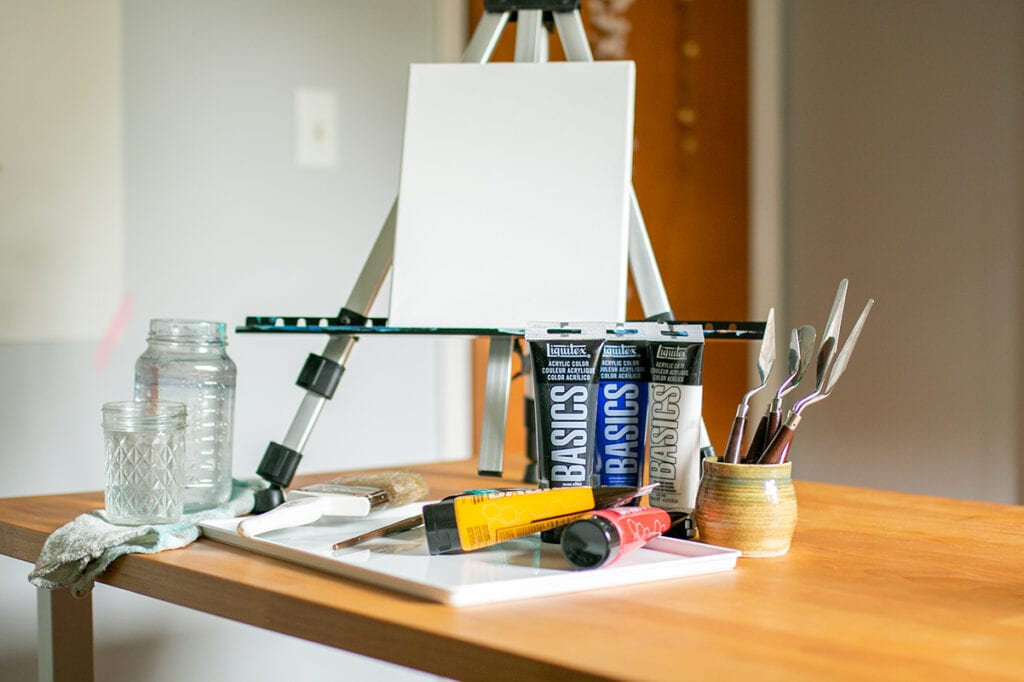 Abstract Acrylic Painting Tutorial Materials