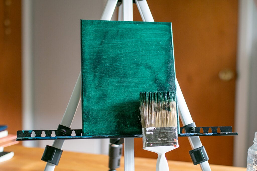 Abstract Acrylic Painting Tutorial step one paint base later