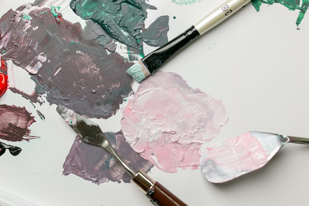 Abstract Acrylic Painting Tutorial step two pick your color palette