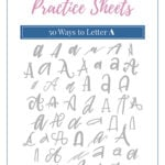 50 ways to letter the alphabet lettering practice sheets pin 2