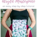 Abstract Acrylic Painting Tutorial Pin 3