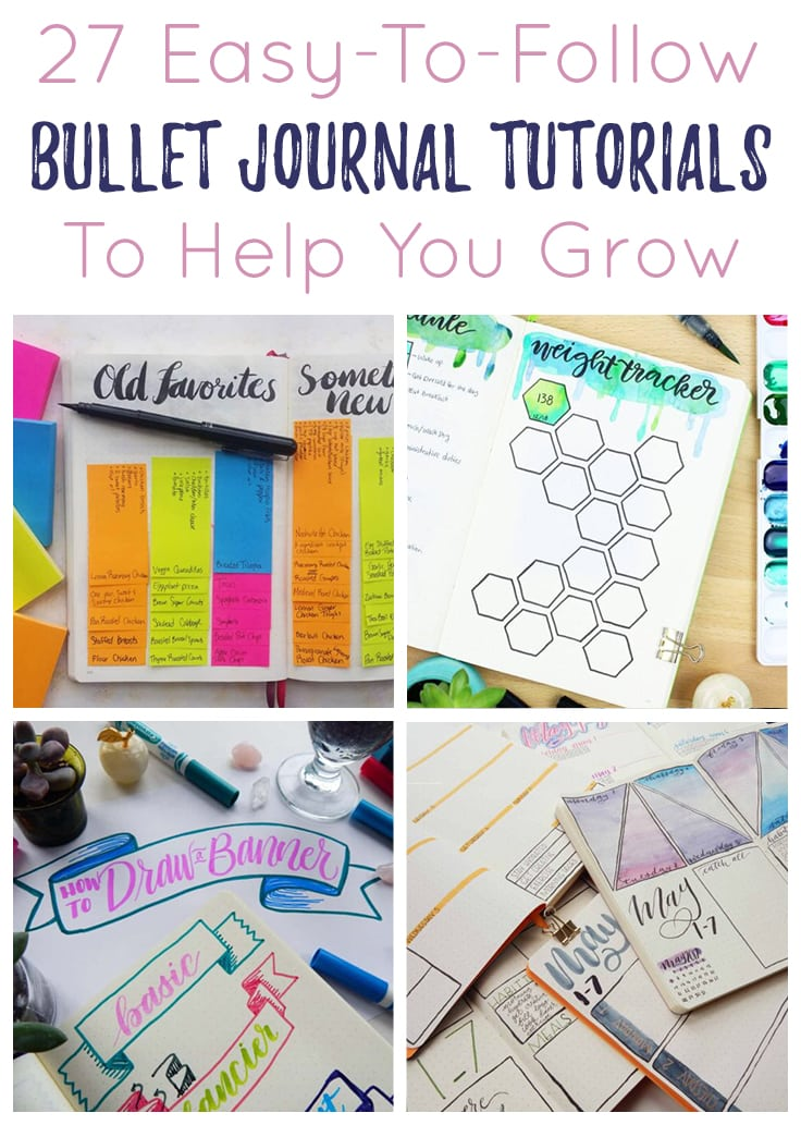 Bullet Journal Tutorials Collage Short Pin