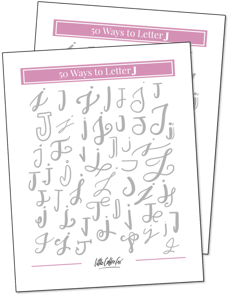 50 Ways to Letter J