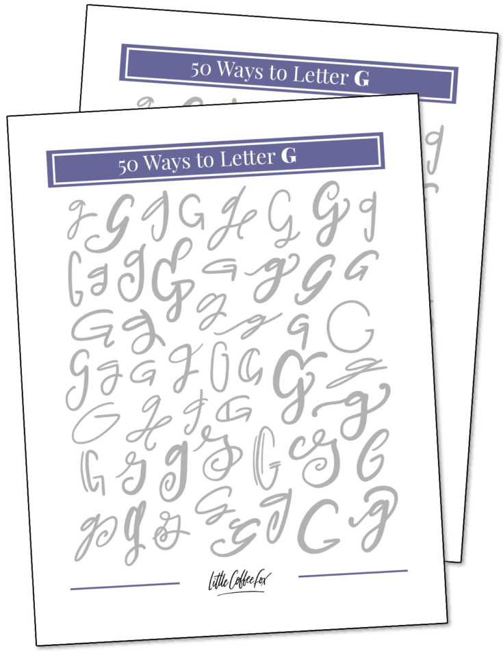 50 Ways to Letter G