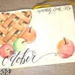 An apple pie drawn in a bullet journal
