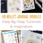 Bullet Journal doodles Cover Photo and Pin