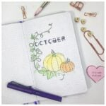 A simple October bullet journal pumpkin theme