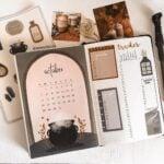 An elaborate Harry Potter bullet journal theme