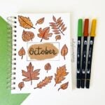 A simple October bullet journal cover photo
