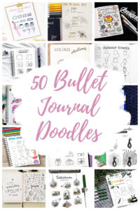 Bullet journal doodles Collage Title Pin Overlay