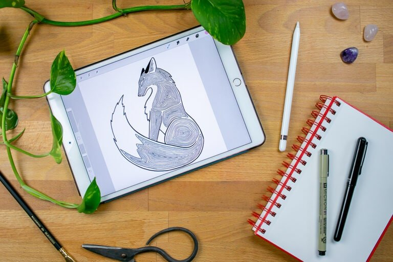 How to Draw a Fox in My Topographical Style