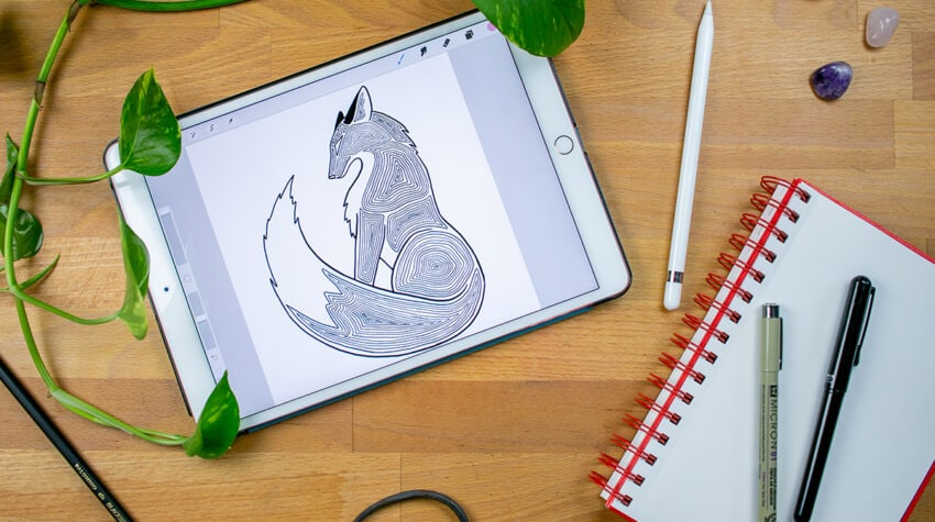 How to Draw a Fox Final Drawing