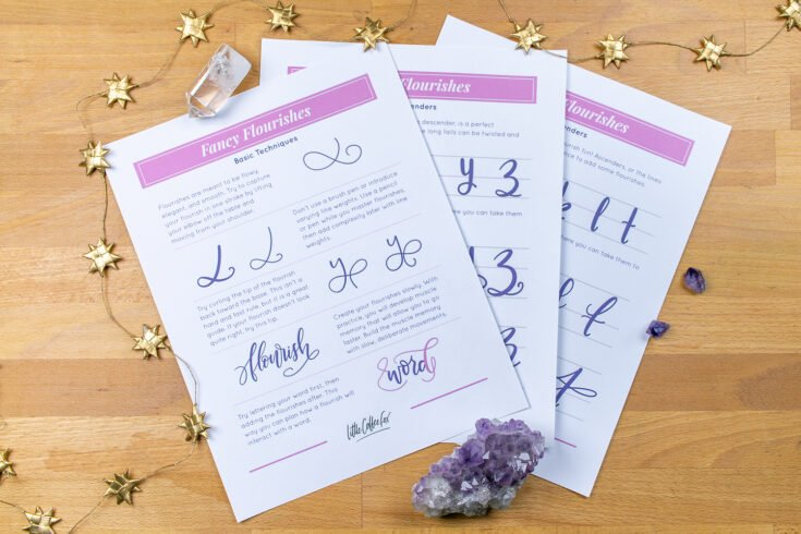 Fancy Flourishes Lettering Workbook - Normally $12