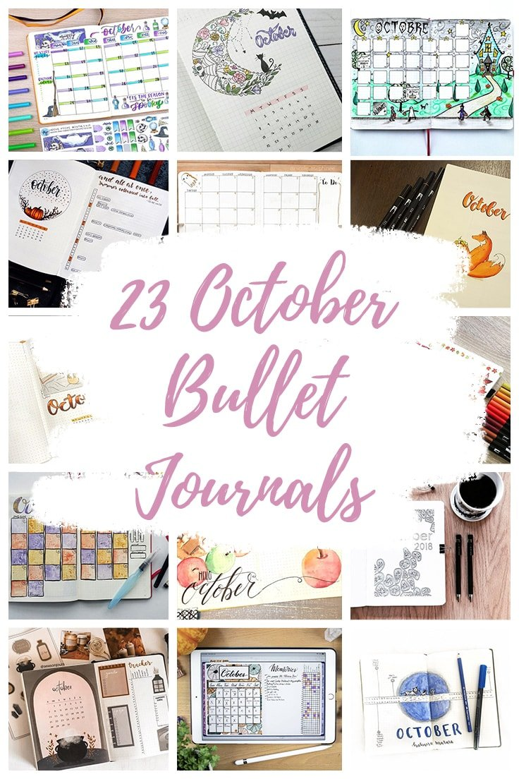 October Bullet Journal pin Collage Overlay