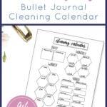 Cleaning Calendar Printable Pin 1