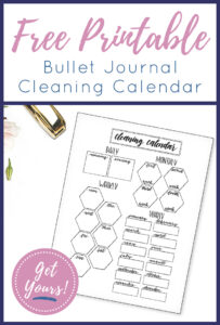 Cleaning Calendar Printable Pin 1