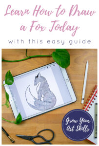 How to Draw a Fox Pin 3