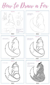 How to Draw a Fox Pin 4