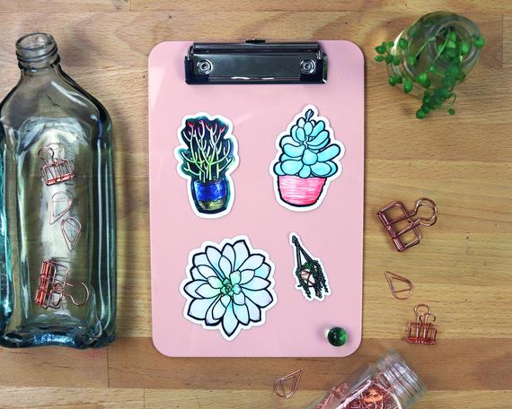 Lucky Succulent Sticker Collection