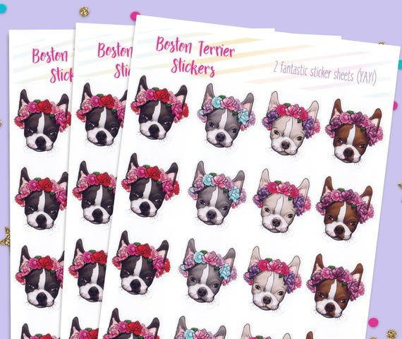 Boston Terrier Dog Stickers