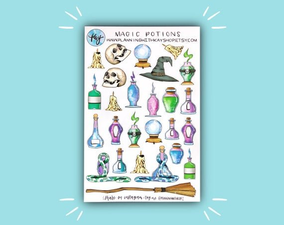 Magic Potions Sticker Set