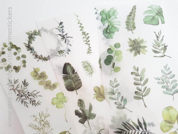 Botanical & Succulent Planner Stickers