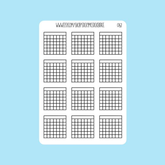 Easy to Use Monthly Calendar Stickers