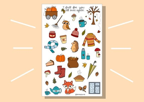 Beautiful and Fun Fall Stickers