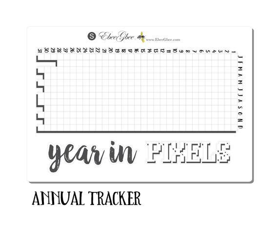 A Year In Pixels Sticker