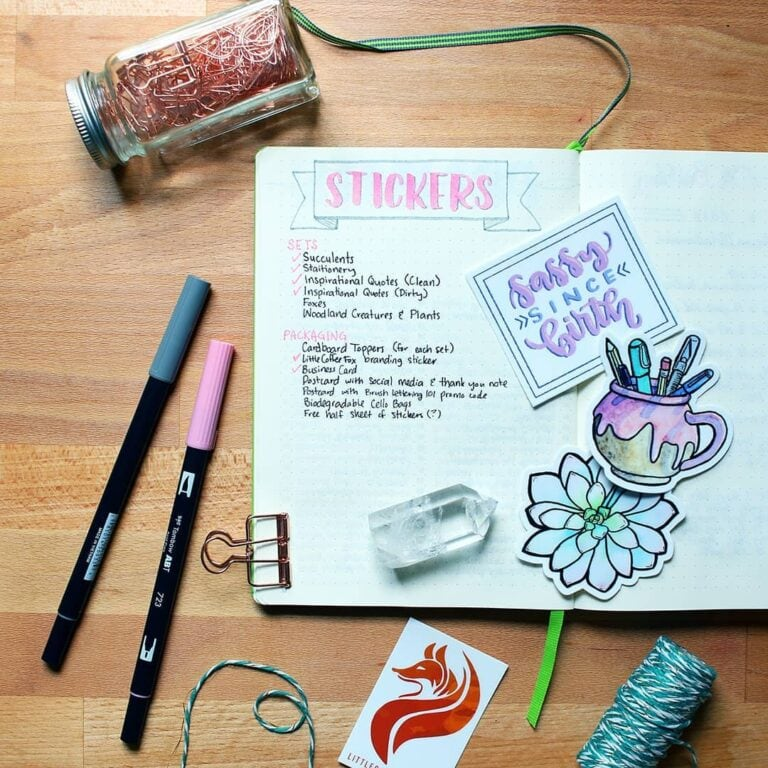 50 Bullet Journal Stickers – Fun & Cute Stickers for All Occasions