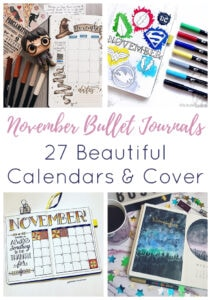 November Bullet Journal Short Pin 3