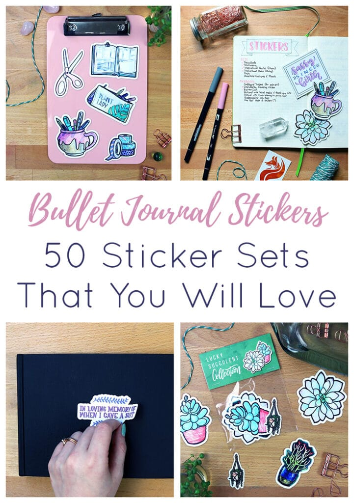 Bullet Journal Stickers Short Pin 3