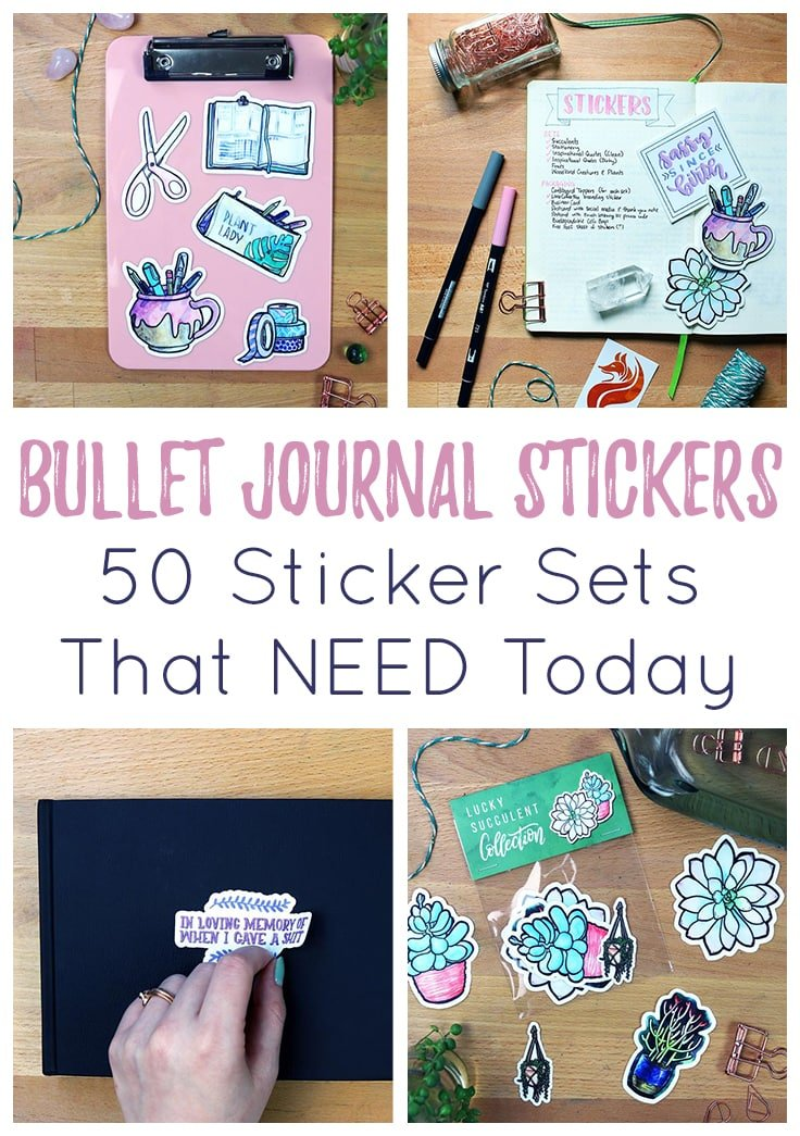 Bullet journal stickers cover photo & Pin