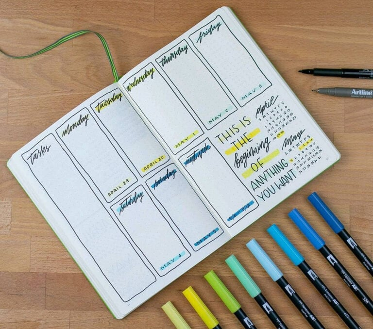The Bullet Journal Daily Spread: Find The Perfect Setup