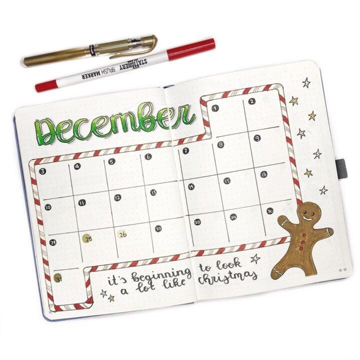 30 December Bullet Journal Ideas Perfect For Christmas Littlecoffeefox