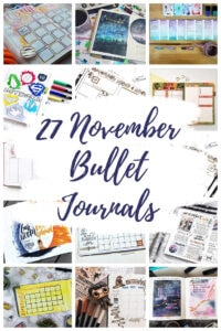November Bullet Journal pin Collage Overlay