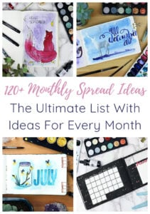 Bullet Journal Monthly Spreads 4 Image Short Pin & Cover Image