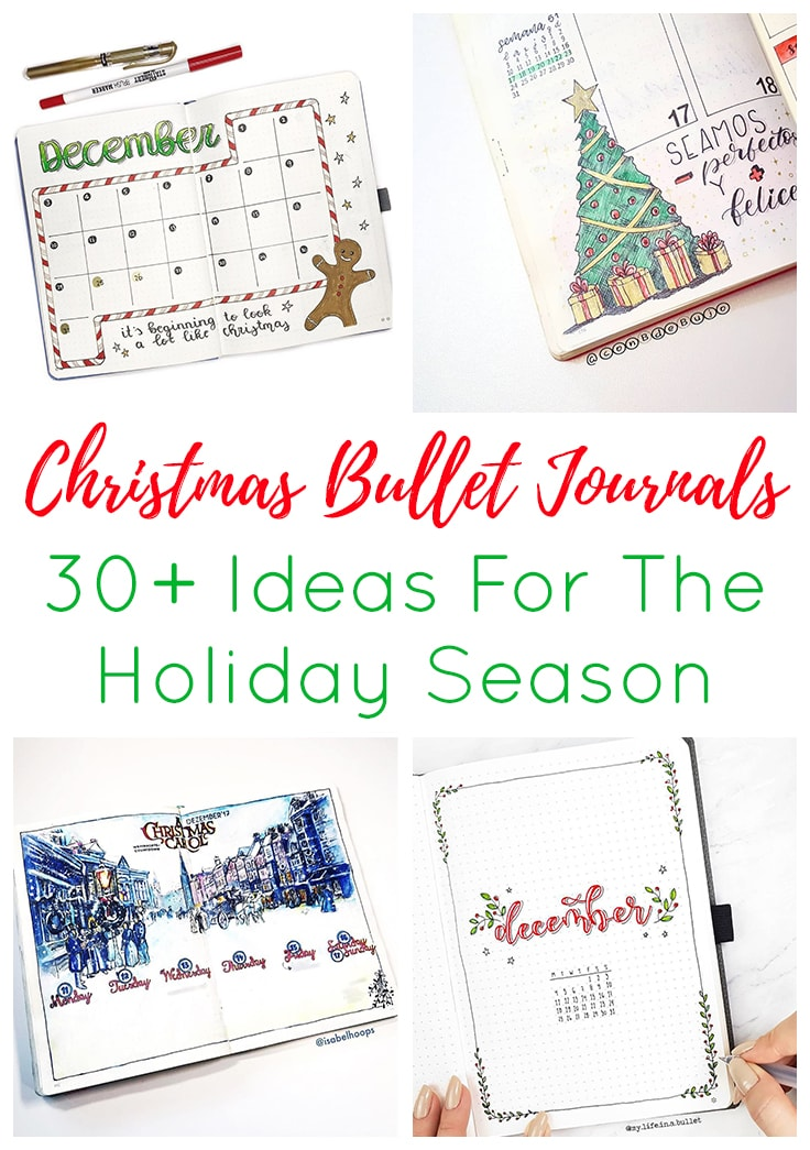 Christmas Bullet Journal Short Pin & Cover Image