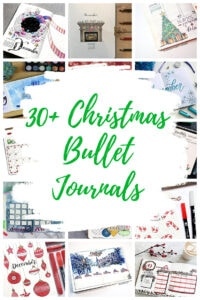 Christmas Bullet Journal pin Collage Overlay