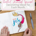bullet journal page with mermaid and text Over 120 Bullet Journal Spread Decoratin gIdeas for Each Month