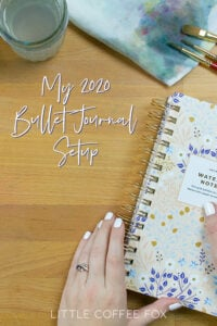 My bullet journal set up pin image