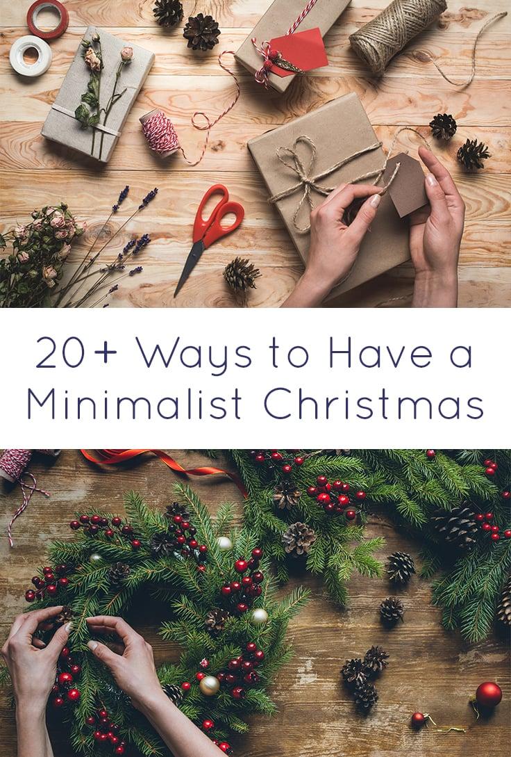 A Minimalist Christmas Title Image & Pin