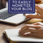 Ways to monetize a blog cover photo & Pin