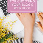 Choosing a Blog Host Cover Image & Pin
