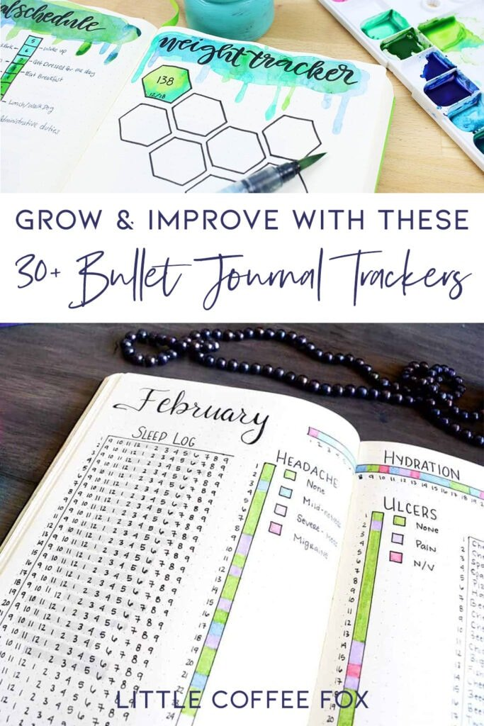 Bullet Journal Tracker Ideas Cover Photo & Pin
