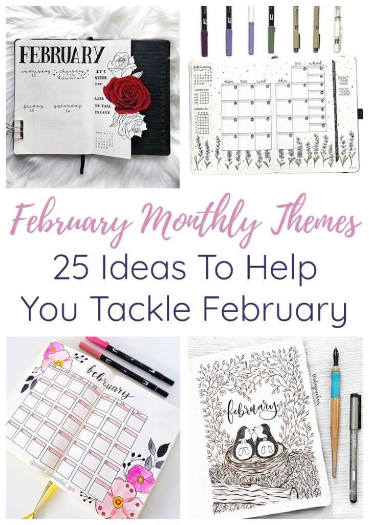 February Bullet Journal Themes Cover Image & Short Pin