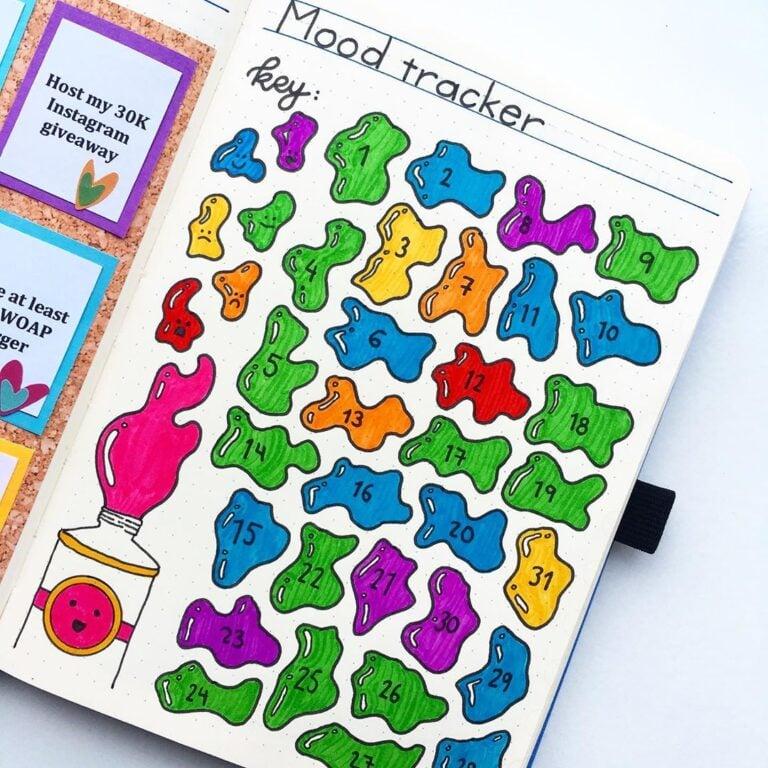 30 Fun & Creative Bullet Journal Mood Tracker Ideas