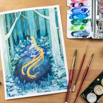 Watercolor Negative Painting Tutorial – Add Amazing Depth to Your Art